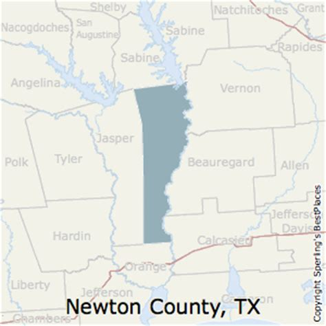 newton county texas map best places to live in newton county texas