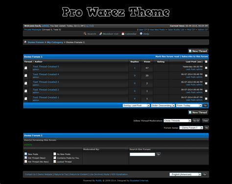 mybb themes mybb mods pro warez theme
