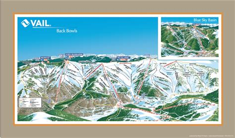 vail map 2013 vail s back bowls trail map mount n frame