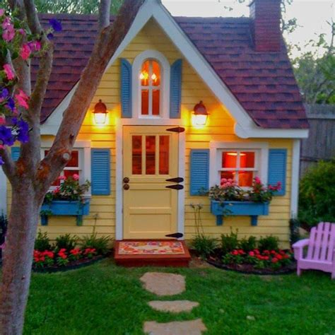 beautiful backyard playhouse get outside
