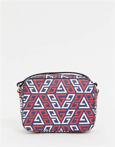 asos design camera bag  monogram asos