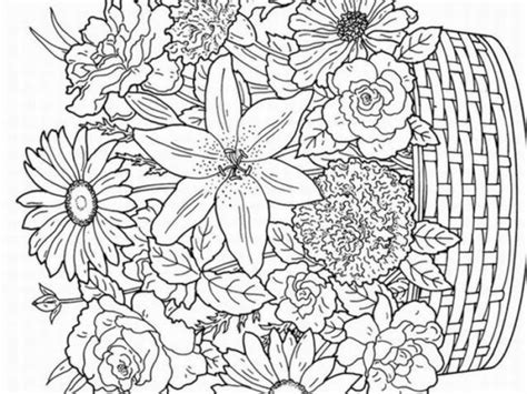 detailed coloring pages for adults flowers detailed flower and coloring pages detailed flower