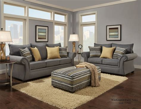 Living Room Sofa Chairs Jitterbug Gray Sofa And Loveseat 1560greysl Living Room Sets National Mattress Furniture
