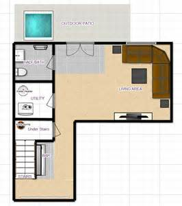 Ideas For Mission Floor L Design Basement Planning The Bar In Yellow