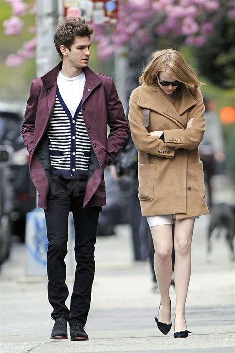 emma stone và andrew garfield emma stone and andrew garfield walking in nyc pictures