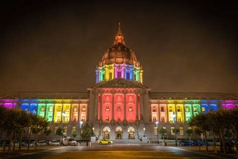 city lights sf rainbows light up landmarks across the u s to celebrate