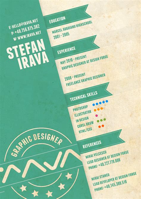 Resume Graphic Design Inspiration 30 Amazingly Creative Exles Of Designer Resumes Inspirationfeed
