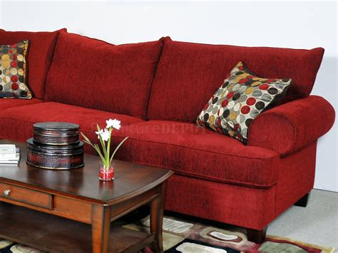 red fabric sectional red fabric contemporary sectional sofa w rolled arms