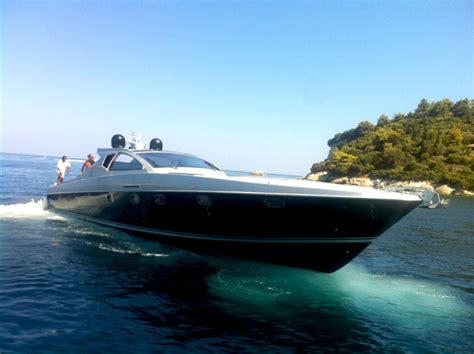 motor boat with living accommodation cigarette 55 ft motor yacht mykonos daily weekly charter