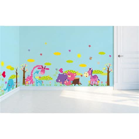 removable wall stickers for kids bedrooms forest animals removable wall stickers for kids decorative