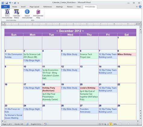 ms word monthly calendar template 2011