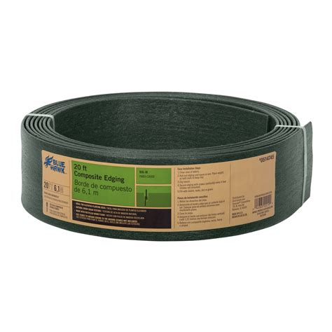 Lowes Garden Edging by Shop Blue Hawk 20 Ft Green Landscape Edging Roll At Lowes