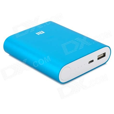 Li Usb Mobil xiaomi 10400mah li ion battery usb mobile power source bank blue free shipping dealextreme
