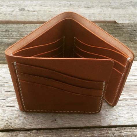 Handmade Leather Wallet Pattern - krysl leather goods handmade trifold wallet krysl goods