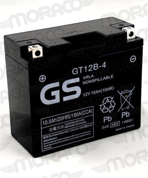 Motorrad Batterie Gs Gt12b 4 by Batterie Gs Gt12b 4 Moraco