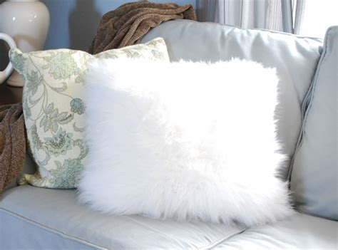 Fuzzy White Pillow by Fuzzy Pillows From A Surprising Source Centsational