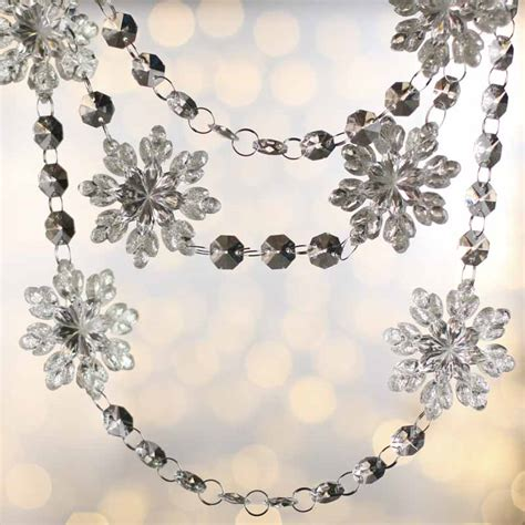 Christmas Party Centerpiece - acrylic snowflake crystal garland christmas garlands christmas and winter holiday crafts