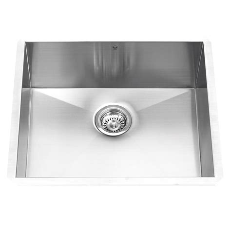 undermount kitchen sinks stainless steel vigo undermount stainless steel 23 in single bowl kitchen