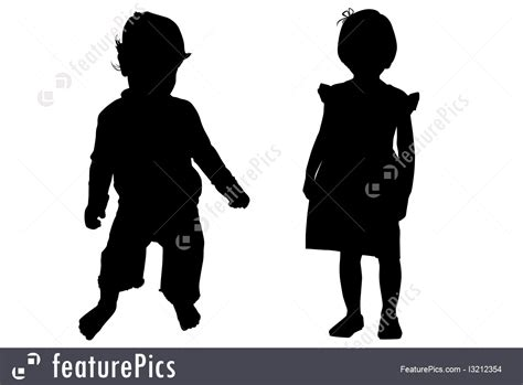 silhouettes  outlines kids silhouette stock