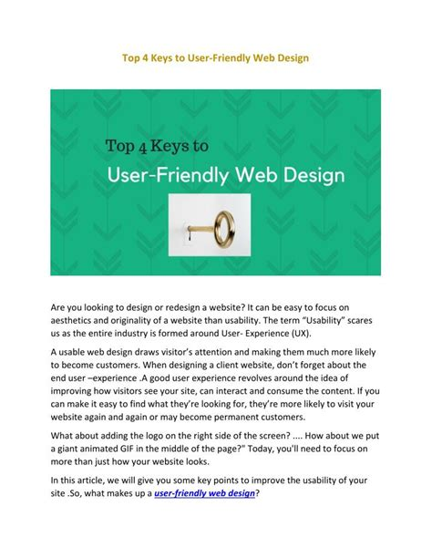 ppt top 4 to user friendly web design powerpoint