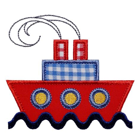 Embroidery Applique Design by Big Dreams Embroidery Ship Ahoy Machine Embroidery