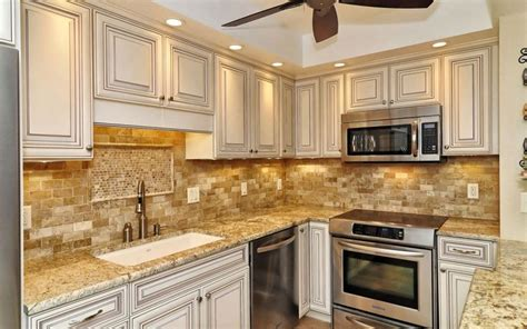 coordinating cabinets countertops and flooring beautiful mixed marble 2x4 mosaic backsplash
