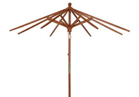 11' Wood Market Umbrella   Frame Only   Umbrella Source