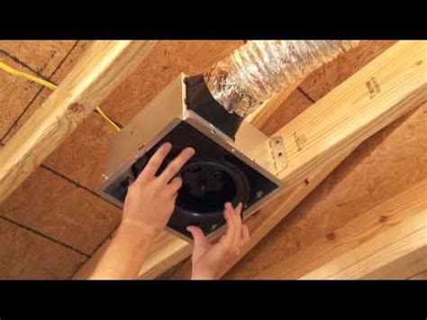 how to remove a nutone bathroom fan broan invent series how to install youtube