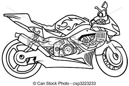 Motorrad Bilder Gezeichnet by Zeichnungen Motorrad Gezeichnet Abbildung