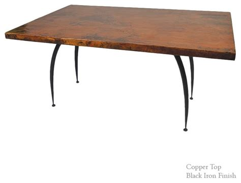 greylock copper top dining table by mathews company mathews company pinnacle dining table with 44 quot x72
