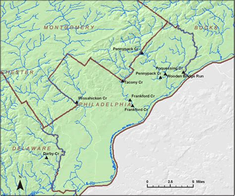 philadelphia county map stations where ground water recharge was estimated in