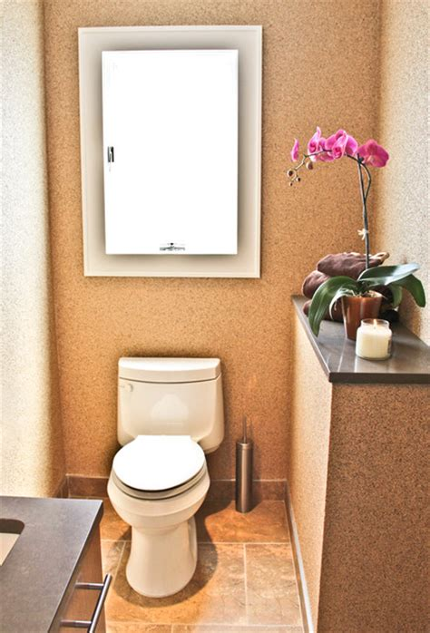 bathroom panelling cork cork and mica wall covering powder room contemporary