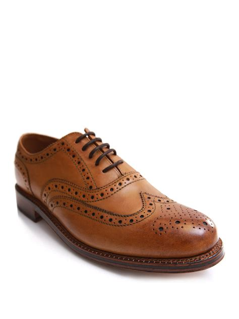 brogue shoes for grenson brogue shoe in brown for lyst
