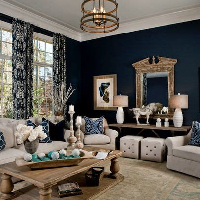 Blue Transitional Living Room Navy Living Room Parade Of Homes Transitional On Navy Blue