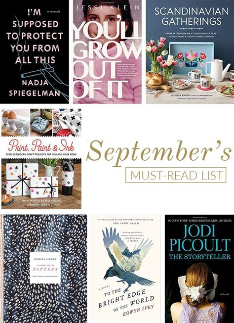 the must guide a listed must read list for september glitter guide