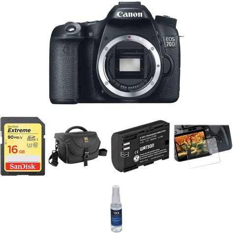 Kamera Dslr Canon 70d Kit canon eos 70d dslr basic kit b h photo