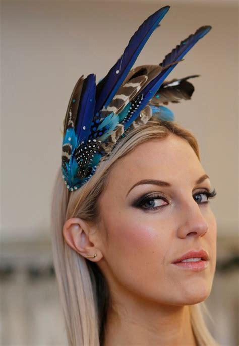 'Aves' Blue Feather Headdress