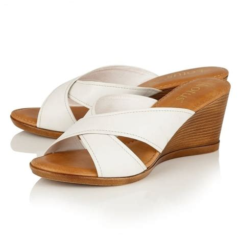 leather mule sandals ashling white leather wedge mule sandals