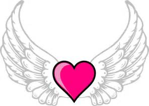 love heart with wings drawing clipart best