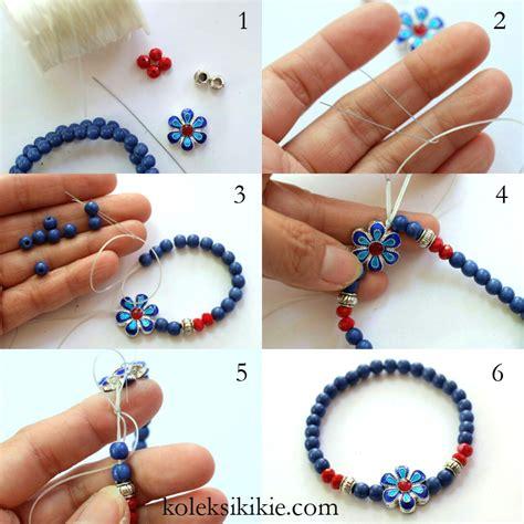 cara membuat gelang manik unik cara membuat gelang blogkoleksikikie