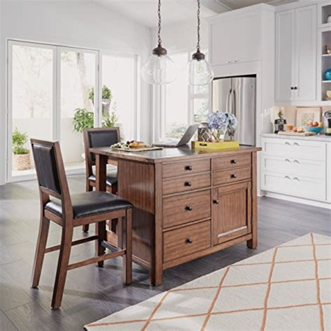 home styles 5412 948q tahoe kitchen island with grey