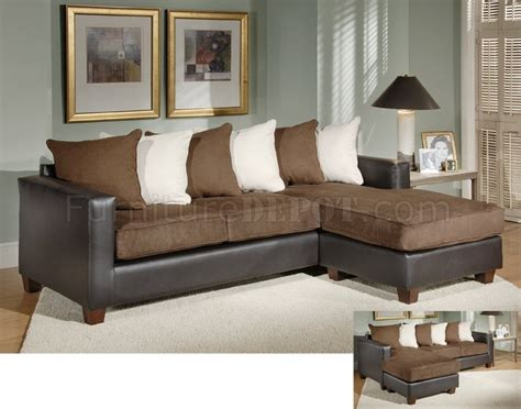leather and fabric living room sets chocolate fabric living room sofa ottoman set w leather base
