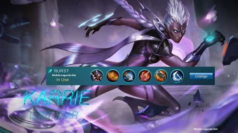mobile legend damage karrie damage build emblem spell 2018 mobile legends