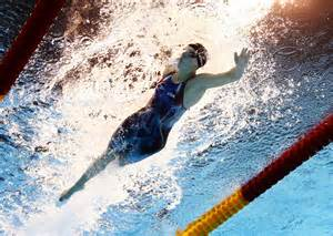 Smashes her own world record in 400 freestyle the new york times