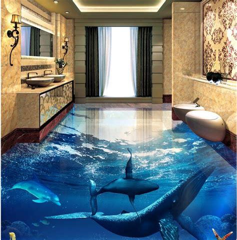 3d wall mural 3d wall mural flooring dolphin photo wallpaper mural