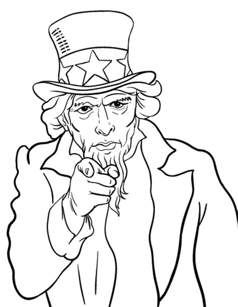 uncle sam wants you coloring page free uncle sam coloring page