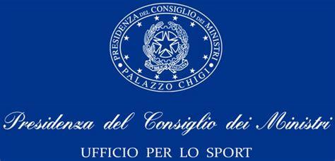 presidenza consiglio dei ministri contatti governo stanziato un fondo per lo sviluppo dello sport