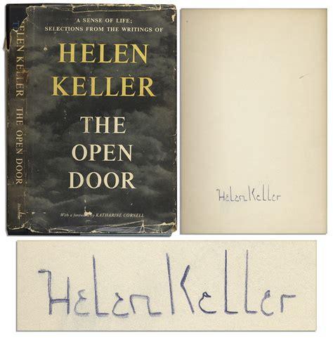 Open The Door Poem by Lot Detail Helen Keller S Book Of Poetry The Open Door