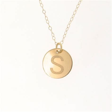 14k solid gold personalized initial necklace your
