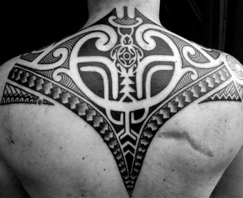 polynesian back tattoo 60 tribal back tattoos for bold masculine designs